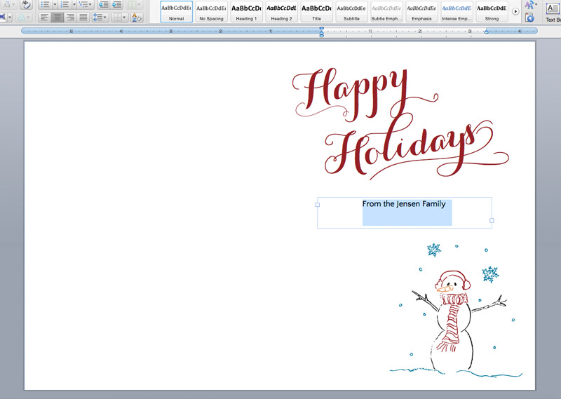 Customize holiday card print template. Free printable holiday cards
