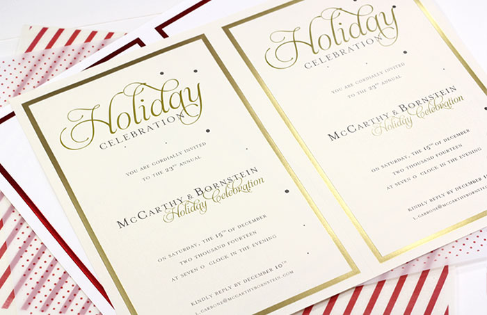 Easy print, micro-perforated cards for holiday party invitations