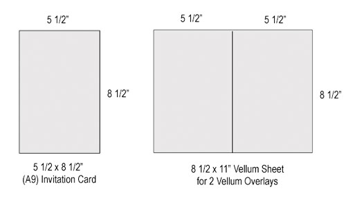 create 2-up overlay for A9 cards with 8 1/2 x 11 sheet