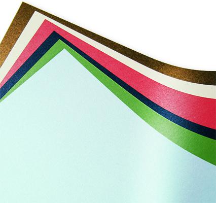 Array of Metallic Paper Colors