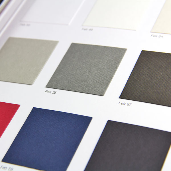 9 classic colors in the Gmund Colors Felt Collection
