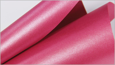 Stardream Azalea metallic pink paper