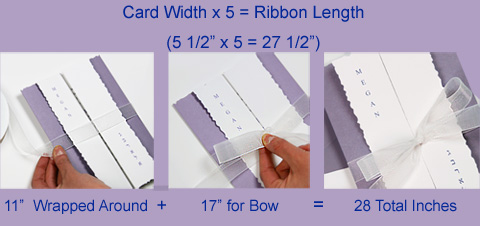 Bat Mitzvah Passion Tuxedo Kit embellished with 28 inches of white chiffon ribbon