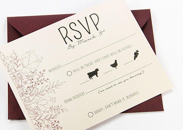 A2 standard size rsvp card size - 4x5 slightly larger for lots of info