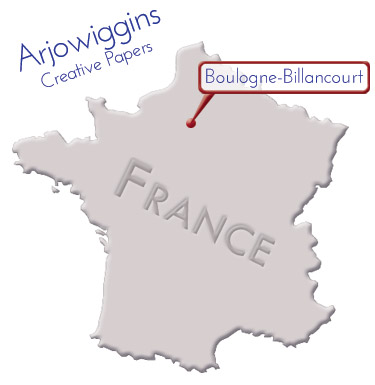 graphic map - location of arjowiggins in France