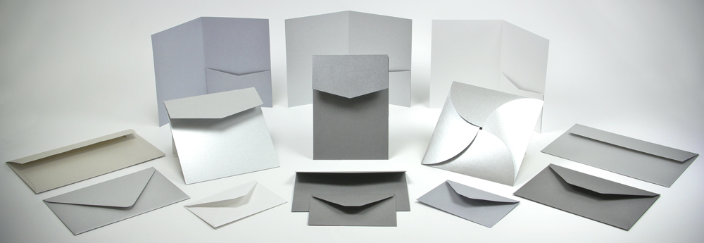 Silver Envelopes and Invitation Pockets