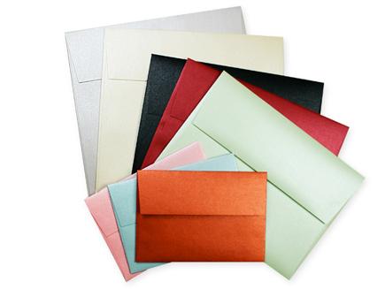 Aspire Petallics metallic envelopes in a variety of sizes