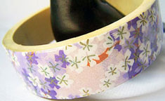 bangle bracelet made with Japanese chiyogami paper