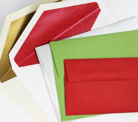 Blank holiday envelopes