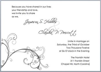 borderless invitation Word document