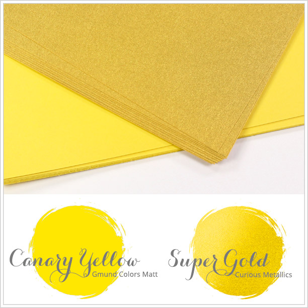 Close paper matches to Spring 2016 Pantone color Buttercup