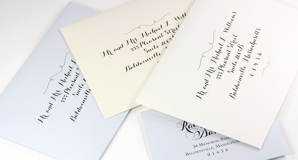 Euro flap double wedding envelope sets in classic color palette