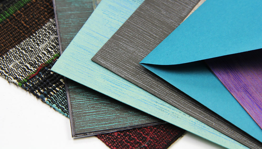 Hand made Japanese linen cards inspired by Japanese woven cloth