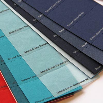 Gmund Color System selector swatch book. Simple luxury paper system in 48 colors and 4 finishes at your fingertips.
