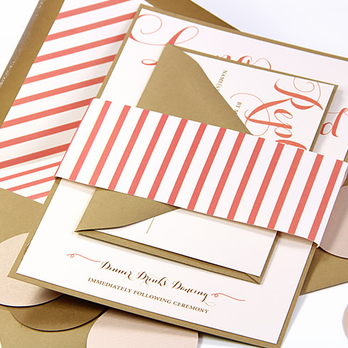 Are DIY Invites for you? Tips to decide in article. Invite assembled with LCI Paper card stock and envelopes