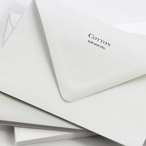 Elegant, classic 100% cotton envelopes. Order in white or gray from LCIPaper.com