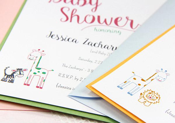 DIY baby shower invitation featured in Craft Ideas Magazine
