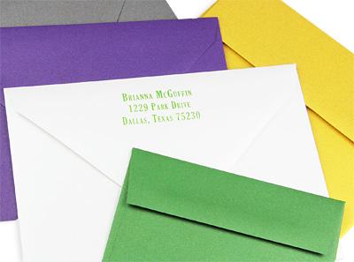 curious metallics envelopes