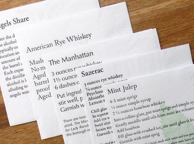 Letterpress napkins by Curly Head Press