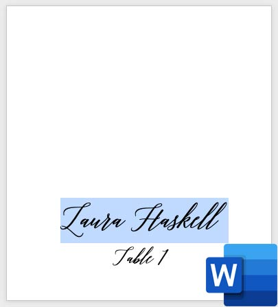 Customize and print place cards using LCI Paper free template. How to print your own place cards with Word