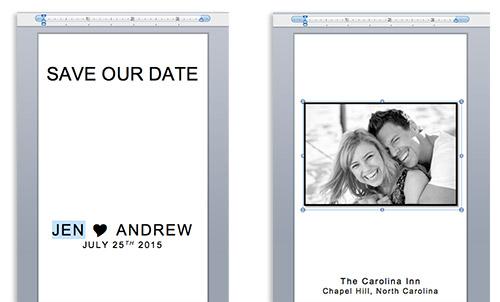 Customize calendar sticker save the date templates