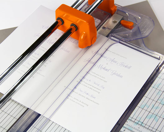 Cut 2 up cards using paper trimmer