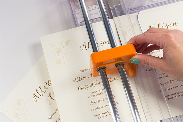 Cut along templates' crop marks to yield 2 invite cards, 2 reception cards, 4 reply cards per sheet