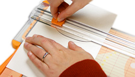 cut program layers with paper trimmer