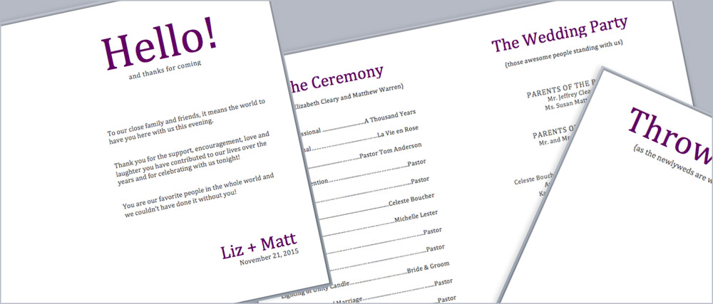 Download and edit pocket program printing templates   free program print templates available in post on LCIPaper.com