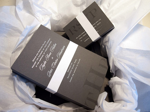 Letterpress invitations by EM Letterpress