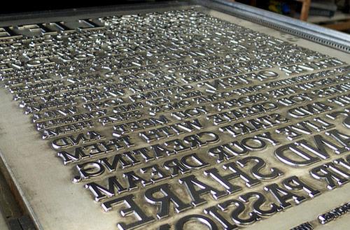 Em Letterpress plate