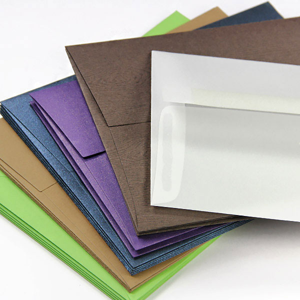 Hundreds of envelope formats, styles, colors, and finishes at LCI Paper - blank or printed