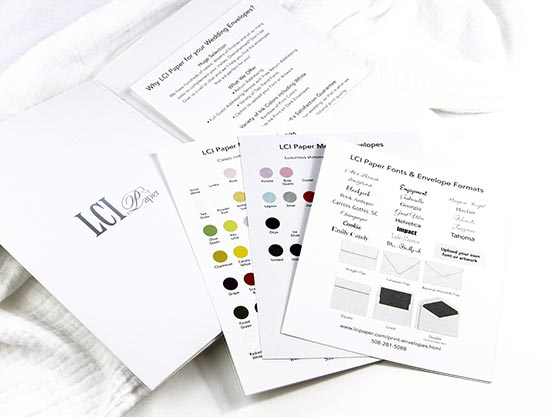 Envelope addressing sampler from LCI Paper. Order envelopes blank or addressed.