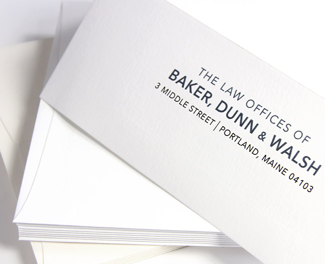 Felt finish envelopes printed with digital press