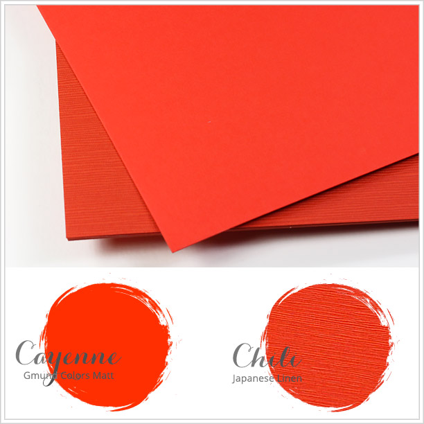 Close paper matches to Spring 2016 Pantone color Fiesta