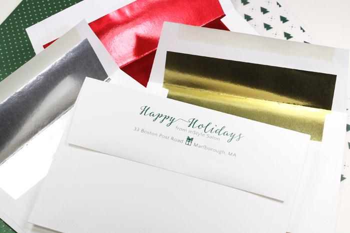 Economical bulk pack foil lined envelopes for corporate holiday cards