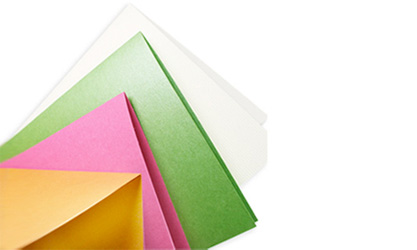 folded medium and heavy card stock