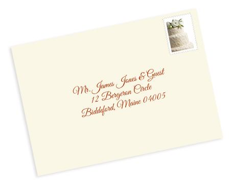 formal wedding envelope