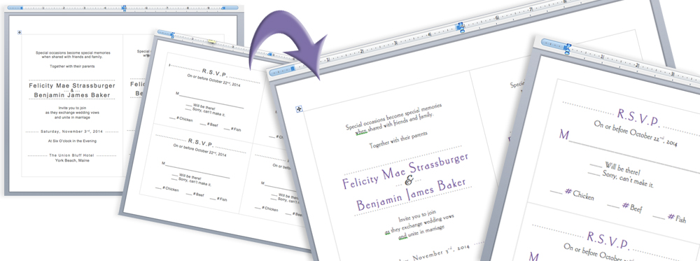 format print templates using Microsoft Word