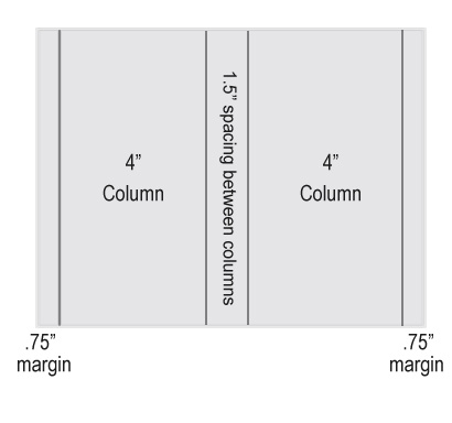 2-up Word document dimensions