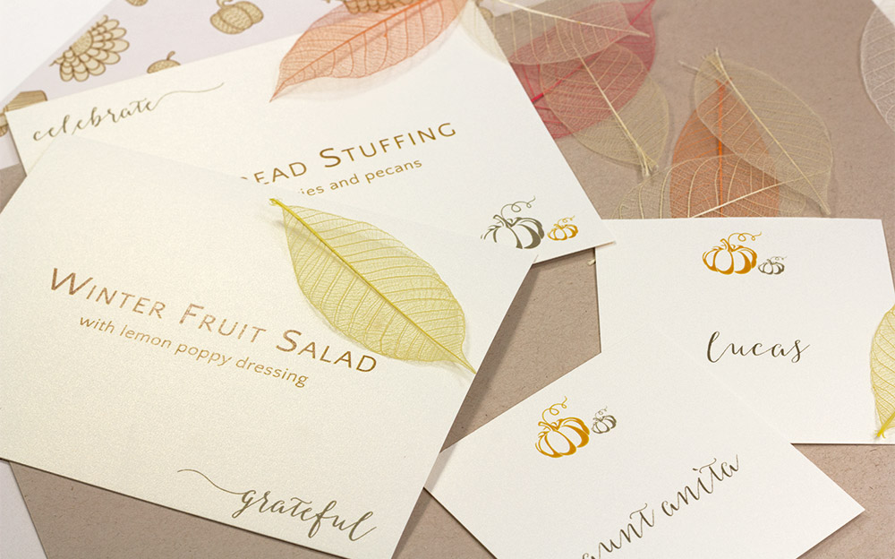 Download free thanksgiving printables to print on 8 1/2 x 11 card stock - table cards and place cards