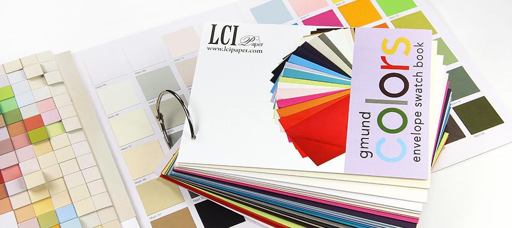 Order Gmund Color System paper and envelope samplers at LCI Paper