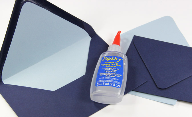 Glue envelope liners with zipdry paper glue for a professional, wrinkle free appearance