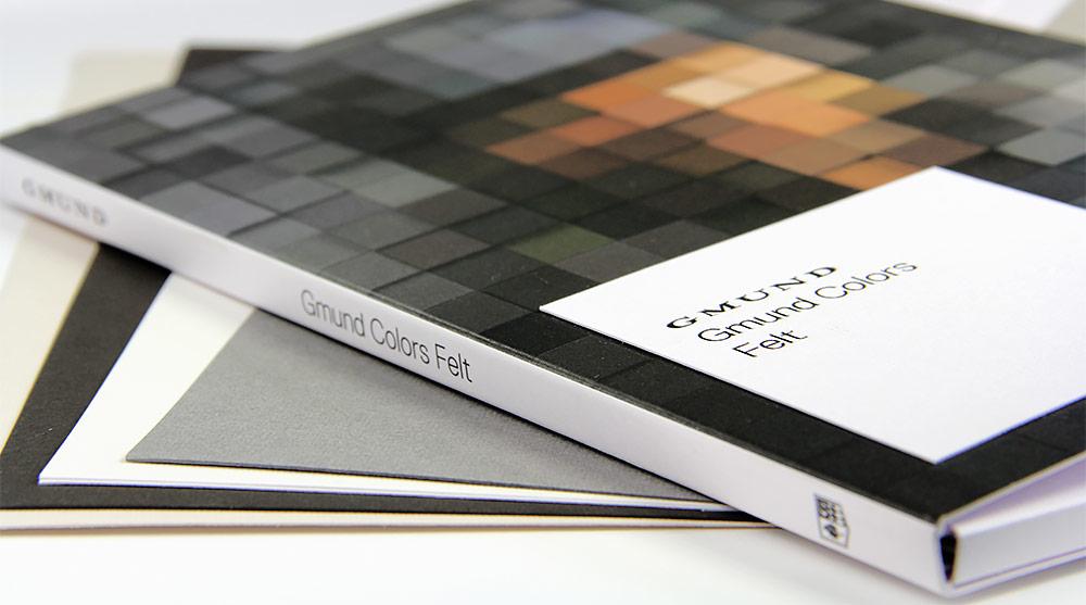 Gmund colors felt swatch book