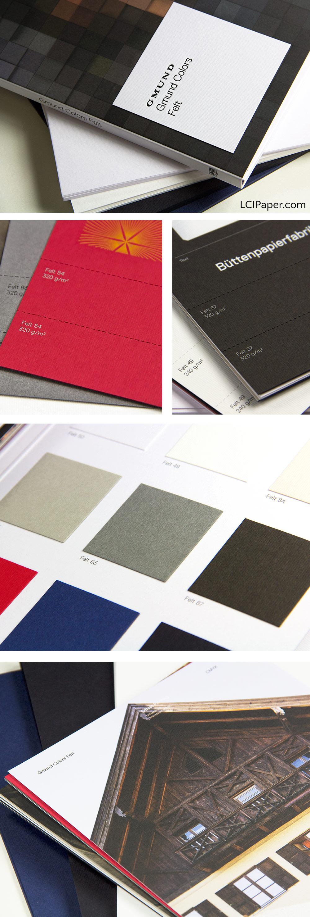 Gmund Colors Felt - part of the Gmund Color System at LCIPaper.com