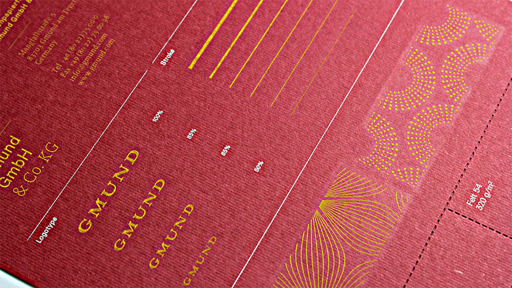 Engraving on Gmund Colors Felt brings out the beauty of the ribbed texture.