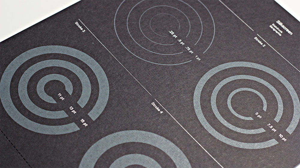 Gmund Colors Felt yields beautiful results when silkscreen printed.