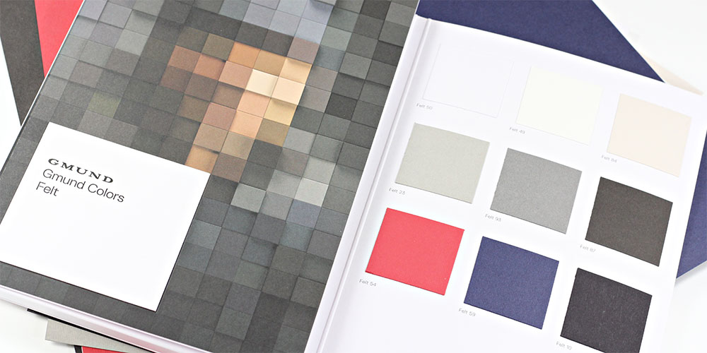 Order your Gmund Colors Felt swatch book from LCIPaper.com with Free Shipping.