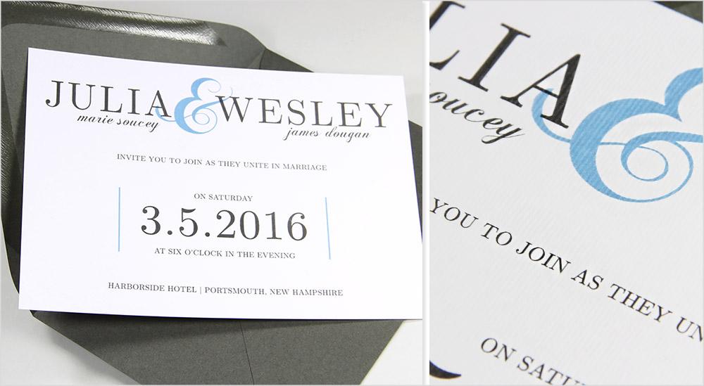 Gmund Felt - white textured paper for wedding invitations