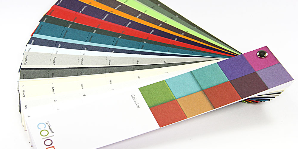 Introducing the Gmund Colors Selector, the newest, most convenient way to view and compare the entire Gmund Colors collection distributed through LCI Paper.